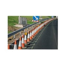 Motorway traffic cones - Rectangle Magnet