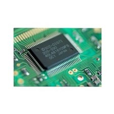 Microprocessor chip - Rectangle Magnet