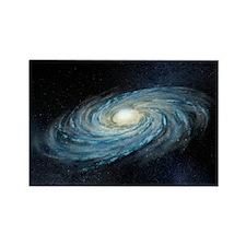 Milky way galaxy, artwork - Rectangle Magnet