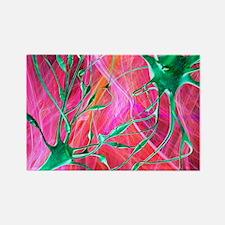 Nerve synapses, artwork - Rectangle Magnet