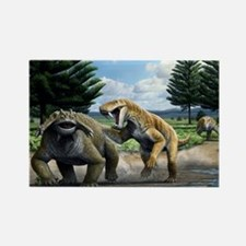 Permian animals, artwork - Rectangle Magnet