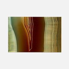 Polished slice of agate - Rectangle Magnet