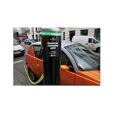 Recharging an electric car - Rectangle Magnet