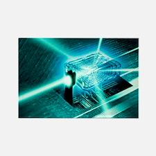Quantum computer core - Rectangle Magnet
