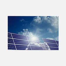 Solar panels in the sun - Rectangle Magnet