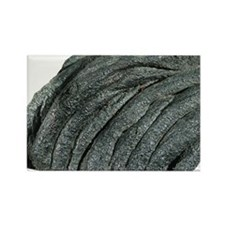 Solidified pahoehoe lava - Rectangle Magnet