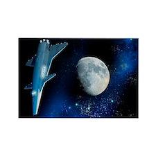 Spaceship, artwork - Rectangle Magnet
