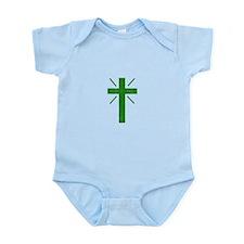Pretty green christian cross 1 U P Body Suit