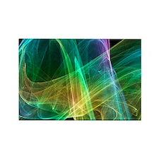 Strange attractor, artwork - Rectangle Magnet