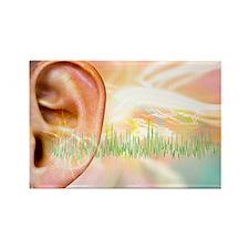 Tinnitus, conceptual artwork - Rectangle Magnet
