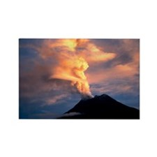 Tunguragua volcano - Rectangle Magnet