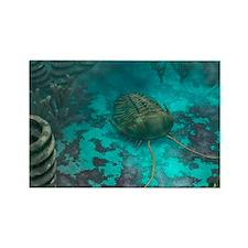 Trilobite on a seabed, artwork - Rectangle Magnet