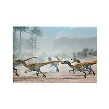 Velociraptor dinosaurs - Rectangle Magnet