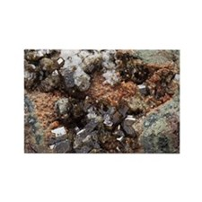 Vesuvianite mineral sample - Rectangle Magnet