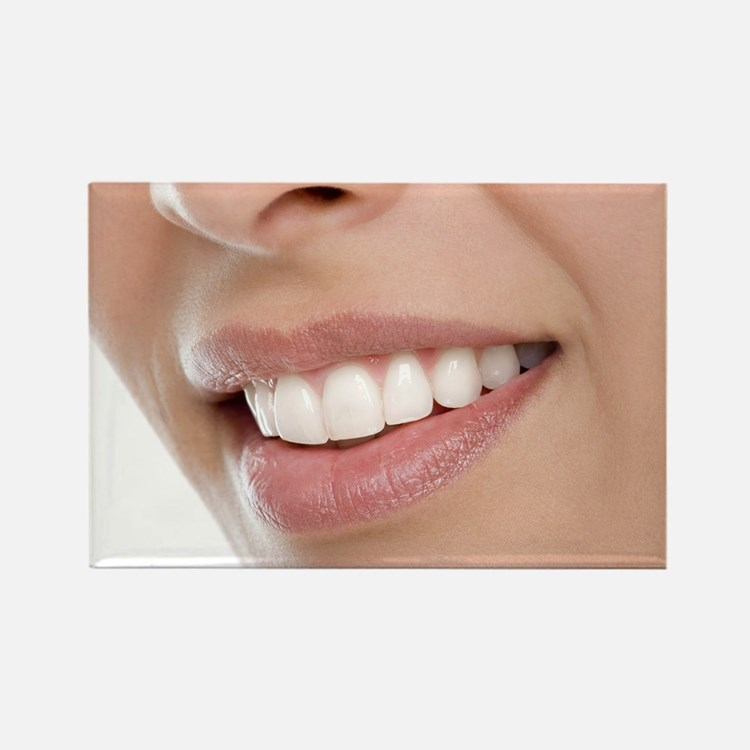 Woman's mouth - Rectangle Magnet