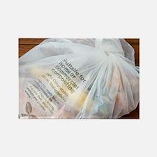 Biodegradable plastic bag - Rectangle Magnet