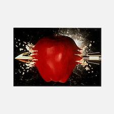 Arrow pierces apple - Rectangle Magnet
