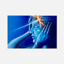 t showing headache - Rectangle Magnet