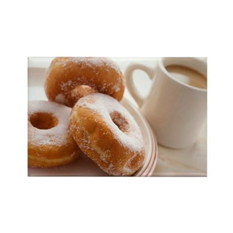 Coffee and doughnuts - Rectangle Magnet