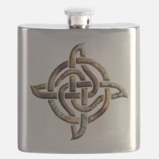 Celtic Rock Knot Flask