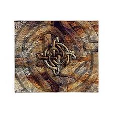 Celtic Rock Knot Throw Blanket