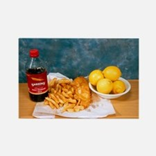 Fish and chips - Rectangle Magnet