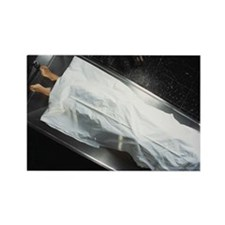 Dead body in a mortuary - Rectangle Magnet