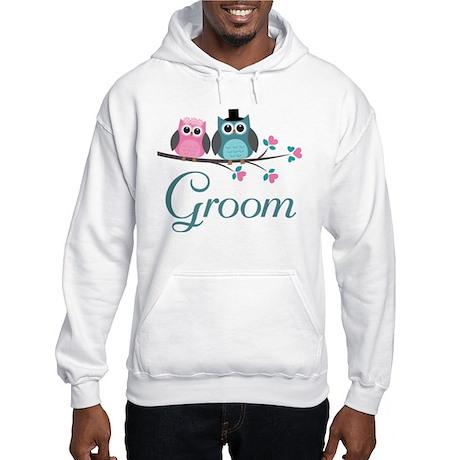 Groom Wedding Owl Hooded Sweatshirt