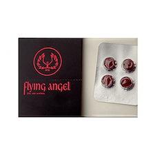 'Flying angel' pills - Rectangle Magnet