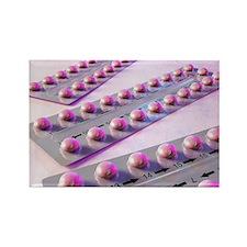 Contraception pills, artwork - Rectangle Magnet