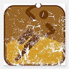 """Handball (used) Square Car Magnet 3"""" x 3"""""""