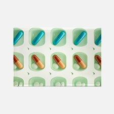 Pill organiser - Rectangle Magnet