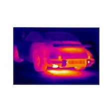 Porsche car, thermogram - Rectangle Magnet