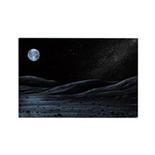 Earth from the Moon, artwork - Rectangle Magnet