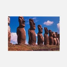 Easter Island statues - Rectangle Magnet