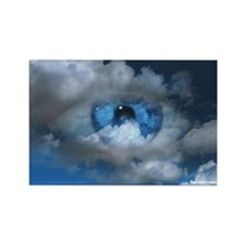 Eye and clouds - Rectangle Magnet