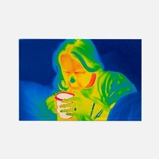 Hot drink, thermogram - Rectangle Magnet