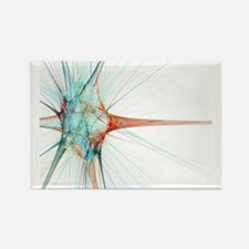 Nerve cell, abstract artwork - Rectangle Magnet