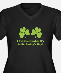 Double D's St. Paddy's Day Women's Plus Size V-Nec