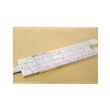 Logarithmic slide rule - Rectangle Magnet