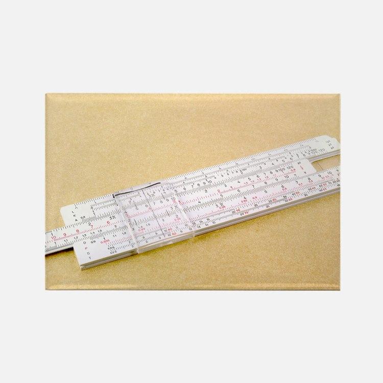 Logarithmic slide rule - Rectangle Magnet