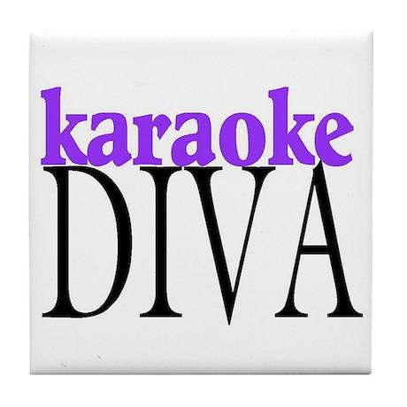 Karaoke Diva Tile Coaster