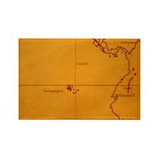 ne of Darwin's maps - Rectangle Magnet