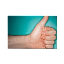 Thumbs up sign - Rectangle Magnet