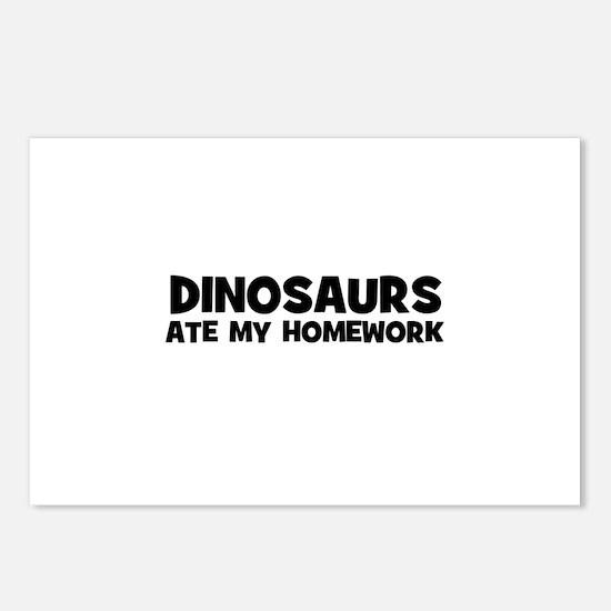 Dinosaurs Ate My Homework Postcards (Package of 8)