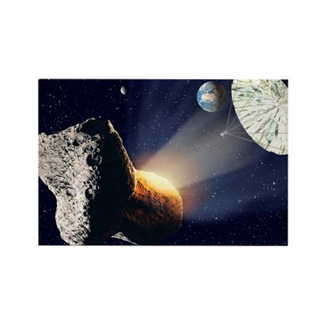 Asteroid deflection - Rectangle Magnet by sciencephotos