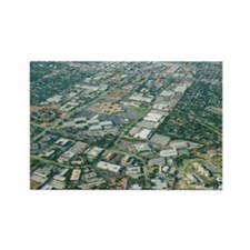 Aerial view of Silicon Valley - Rectangle Magnet