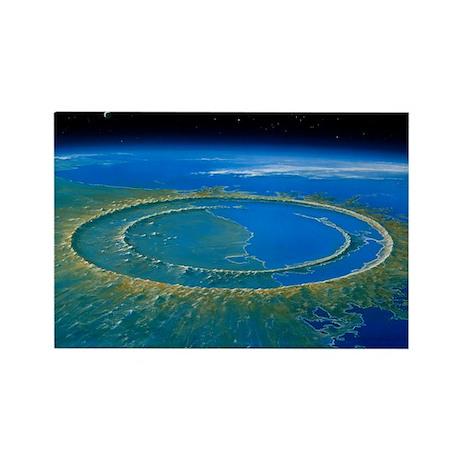 t crater, Yucatan - Rectangle Magnet
