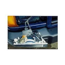 Car headlamp wiring - Rectangle Magnet