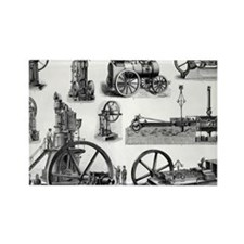 19th century steam engines - Rectangle Magnet